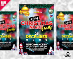 Free Merry Christmas Party Flyer Free Psd Psddaddy Com