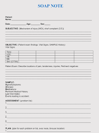 Soap Charting Format 35 Soap Note Examples Blank Formats Writing Tips