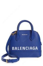 balenciaga women small ville logo leather dome satchel accessories 0