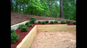 Small Picture Bennett Landscape Inc Treated Timber Retaining Wall Planting
