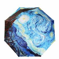 Yesello Vincent van Gogh Oil Painting Starry Night Three Folding ...