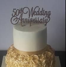 50th Wedding Anniversary Cake Topper Mdf Imagine If