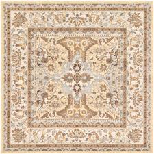 unique loom tradition cream 8 4 x 8 4 square rug