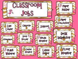 Classroom Jobs Chart Pineapple And Flamingo Classroom Job Chart