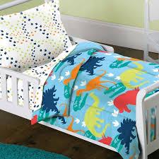 dinosaur prints 4 piece toddler bedding set