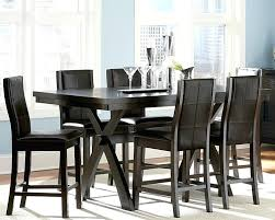counter height dining table sets marvelous black bar height dining table on modern house with regard