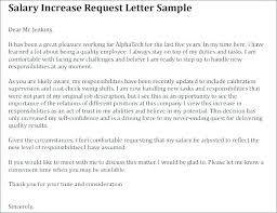 Raise Request Letter Template Sample Letter Of Salary Adjustment Vbhotels Co
