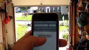 iphone garage door openeriPhone controlled garage door opener using Arduino  YouTube