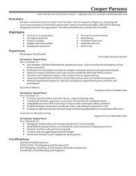 best inventory supervisor resume example livecareer create my resume