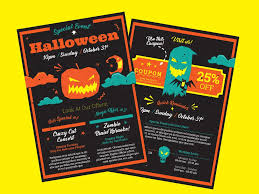 halloween template flyer halloween a5 flyer template for indesign including vector