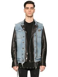 rta denim vest leather biker jacket black blue men clothing jackets rta road to awe clothes attractive