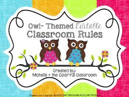 classroom rules template owl themed editable classroom rule template by michelle tomaszewski