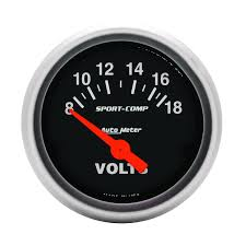 gauges sport comp 2 1 16 voltmeter 8 18v air core sport comp