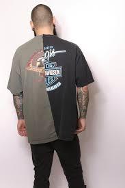 vintage harley davidson black green split t shirt iamkoko la