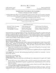 Architectural Project Manager Resume It Project Manager Resume ...