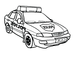 Cop Car Coloring Pages At Getdrawingscom Free For Personal Use