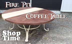 reclaimed fire pit coffee table you training maxresde