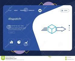 Dispatch Landing Page Website Template Design Stock Illustration
