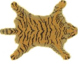 real tiger rug with head