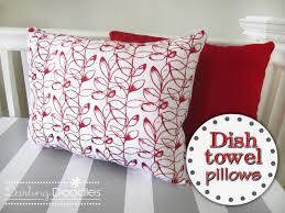 Kitchen Towel Craft Dish Towel Pillows Darling Doodles Darling Doodles