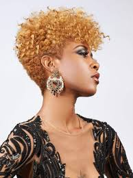 Coiffure Courte Afro Beau Coupe De Cheveux Afro Femme Court