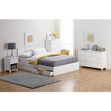 Fingerhut alcove King Platform Bed with Storage Drawers White