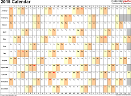 Weekly Calendar 2015 Excel Under Fontanacountryinn Com