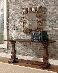 furniture stunning rustic console table design featuring unique