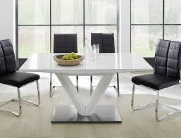 Säulentisch Vasco 160220x90x77 Cm Hochglanz Weiß Esstisch Ausziehbar