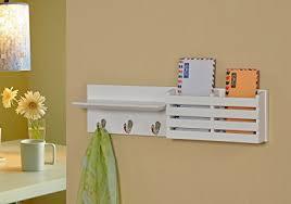 Key Coat Rack Amazon White Finish Entryway Coat Rack Mail Envelope Storage 85
