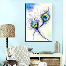 peacock wall decor oil paintings on canvas feather modern abstract carved peacock wall decor