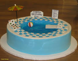 Swimming Pool Cake Designs 91 Best Cakes Images On Pinterest In 2018