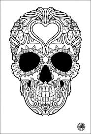 Small Picture Skulls Coloring pages for adults JustColor