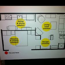 home plan ikea best of the 525 square foot living space floor plan at ikea