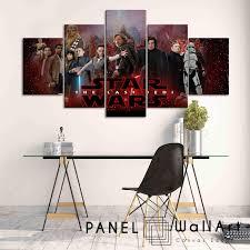 star wars the last jedi panel wall art panelwallart  on star wars 5 panel canvas wall art with star wars canvas art panelwallart