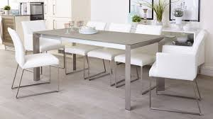 grey frosted glass dining table extending uk for decor 8