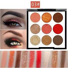 novo eye shadow 9 colors matte pearl glitters makeup powder palette eyeshadow shimmer cosmetic for professional