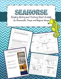 Seahorse Reading Writing And Thinking About Animals