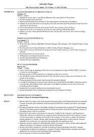 Sales Engineering Support Manager Sample Jobescription Hvac Engineer