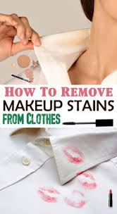 how to remove makeup sns from clothes