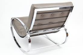 leather and chrome chair. Chrome Amp Leather Rocking Chair And Ottoman3 Red Modern Furniture