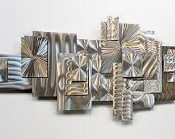 abstract metal wall art. Super Idea Abstract Metal Wall Art Home Decoration Ideas 3d Etsy Unique All Natural Silver Sculpture U