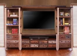 Antique Multicolor Rustic Entertainment Center  Rustic Entertainment Center P56