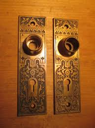 Bronze Interior Door Plates R&E Hardware RE-Damascene -504 - Classic ...