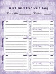Food And Exercise Trackers Best Photos Of Food And Exercise Journal Printable Free