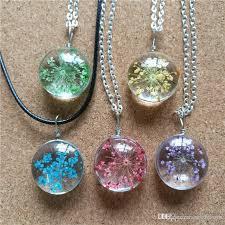 whole diy glass pendants snow pearl flower necklaces plant necklace for women original pendant necklaces jewelry silver jewellery diamond