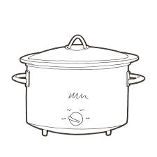 pot of chili drawing. Beautiful Drawing Crock Pot Drawing In Of Chili