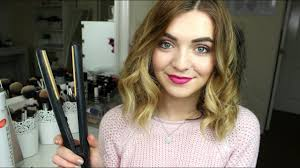How To Curl Shortmedium Length Hair With Straighteners Jamie Johnston