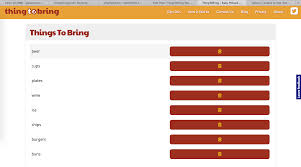Create A Sign Up Sheet For Your Next Event Thingtobring