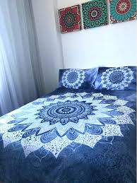 awesome blue mandala bedding set sheets bedspread bohemian baby bed